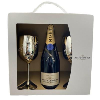 Champagne Moët & Chandon Reserve Imperiale Bollino Blu Brut cl75 Confezione Regalo