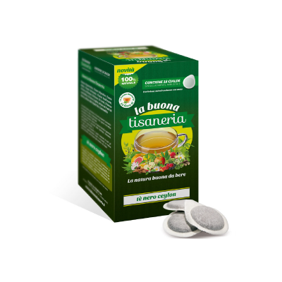 La Buona Tisaneria Tè Nero Ceylon box da 18 Cialde