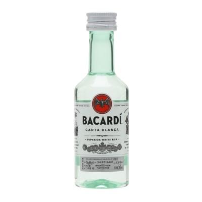 Rum Bacardi Carta Blanca Superior cl5 Confezione da 12 Mignon