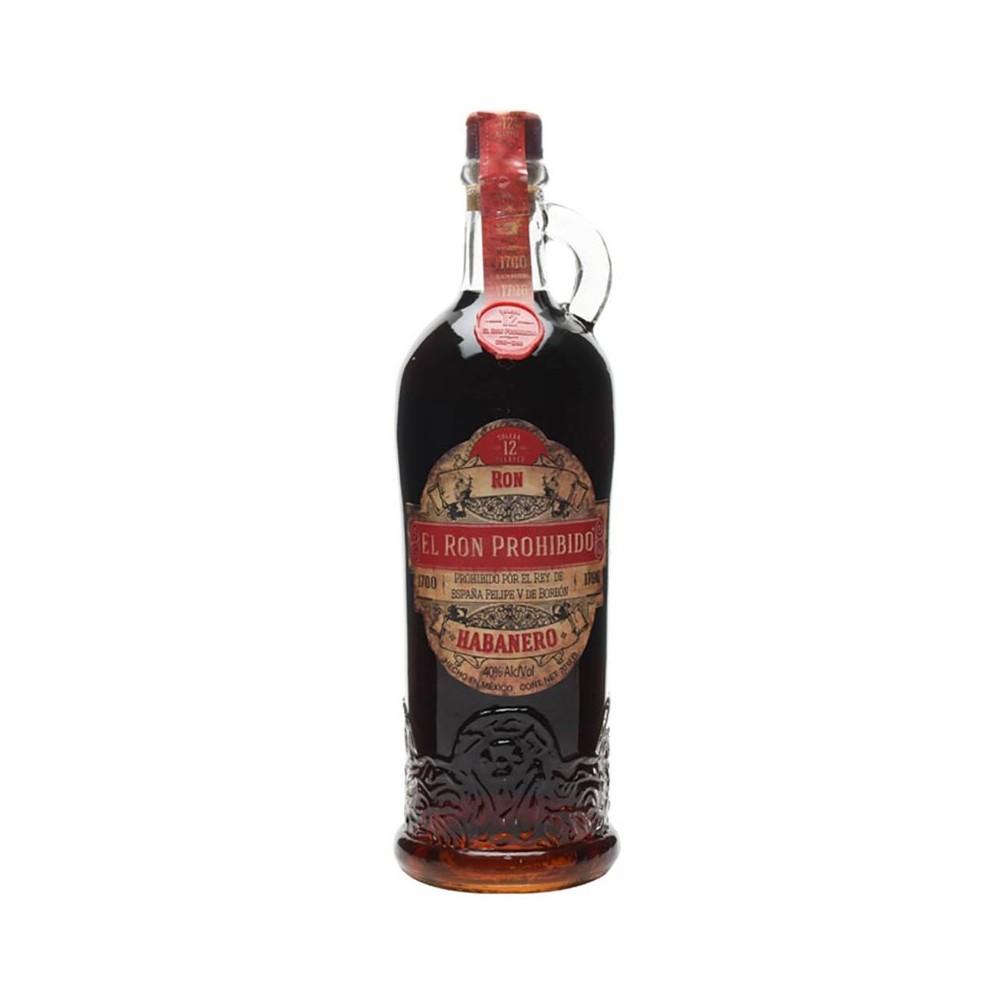 Rum El Ron Prohibido Habanero 12y cl70