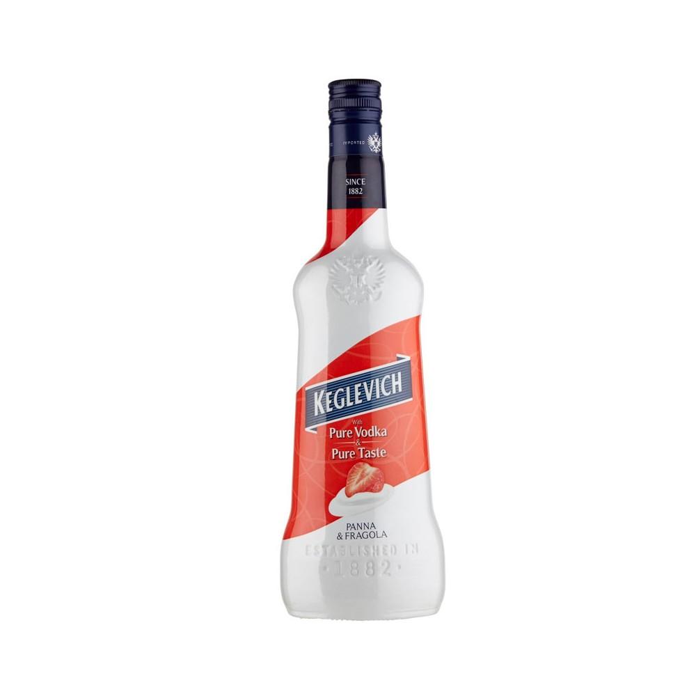 Vodka Keglevich Panna & Fragola cl70